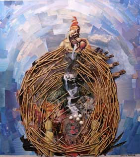 laura hollick bodymapping collage nest