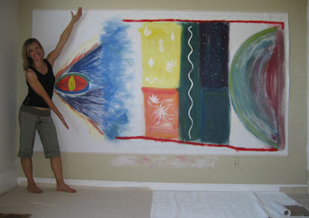Darcie Stewart with her Soul Art